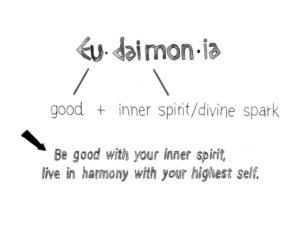 Eudaimonia: Hoàn thiện bản thân, trở thành phiên bản tốt nhất của chính mình.